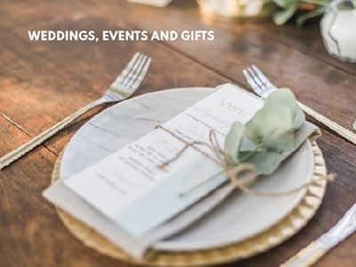 Weddings, Events and Gifts